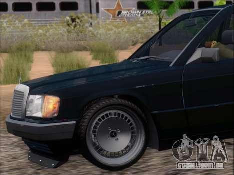Mercedes Benz 190E Drift V8 para as rodas de GTA San Andreas