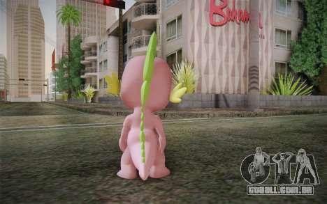 Spike from My Little Pony Friendship para GTA San Andreas segunda tela