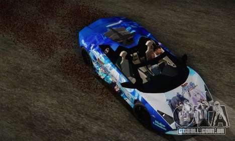 Lamborghini Reventon Black Heart Edition para GTA San Andreas vista traseira
