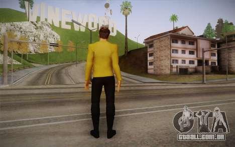 James T. Kirk From Star Trek para GTA San Andreas segunda tela
