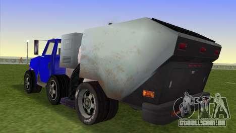 O novo caminhão de lixo Beta para GTA Vice City deixou vista