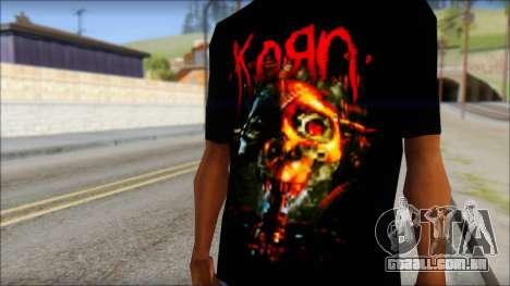 KoRn T-Shirt Mod para GTA San Andreas terceira tela