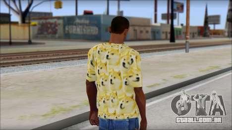 Doge T-Shirt para GTA San Andreas segunda tela