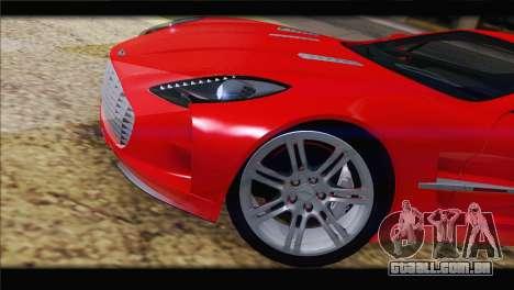 Aston Martin One-77 2010 para GTA San Andreas vista inferior