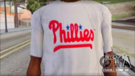 Phillies T-Shirt para GTA San Andreas terceira tela