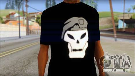 Black Ops T-Shirt para GTA San Andreas terceira tela