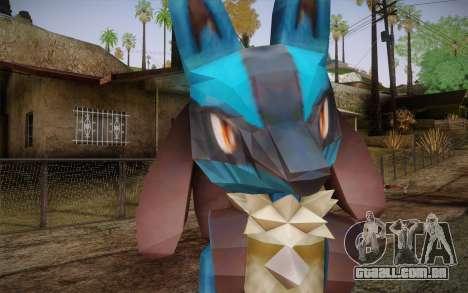 Lucario from Pokemon para GTA San Andreas terceira tela