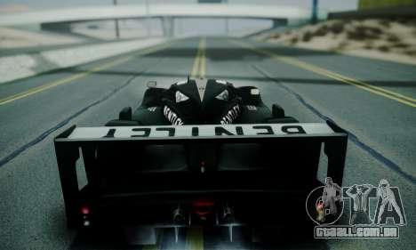 Bentley Speed 8 2003 para GTA San Andreas vista traseira