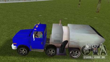 O novo caminhão de lixo Beta para GTA Vice City vista traseira esquerda