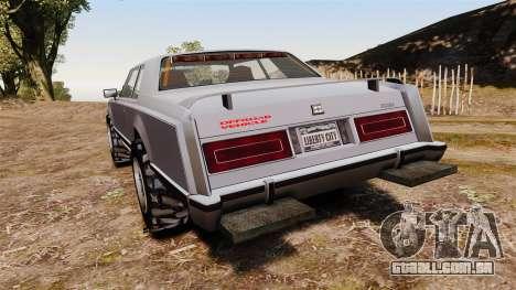 Dundreary Virgo Cliffrider para GTA 4 traseira esquerda vista