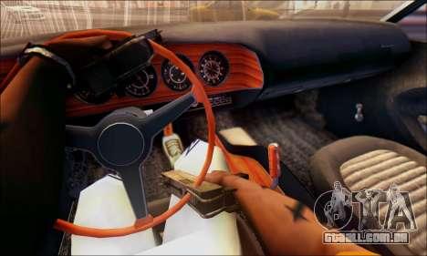 Plymouth Cuda 1970 Stock para GTA San Andreas traseira esquerda vista