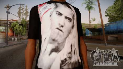 Eminem Fuck Off T-Shirt para GTA San Andreas terceira tela