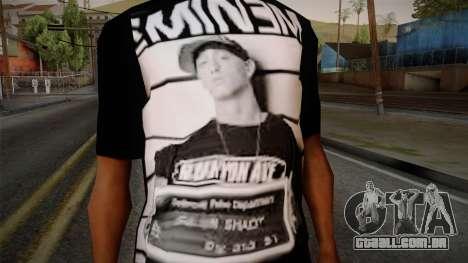Eminem T-Shirt para GTA San Andreas terceira tela