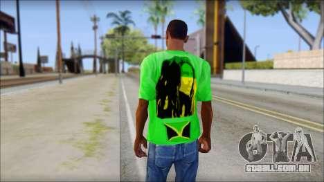 Bob Marley Jamaica T-Shirt para GTA San Andreas segunda tela