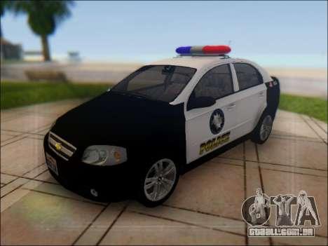 Chevrolet Aveo Police para GTA San Andreas vista superior