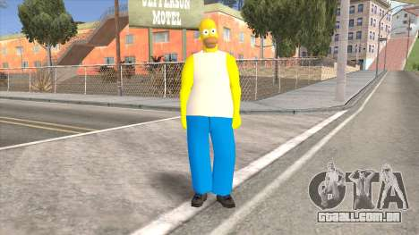 Homer Simpson Skin para GTA San Andreas