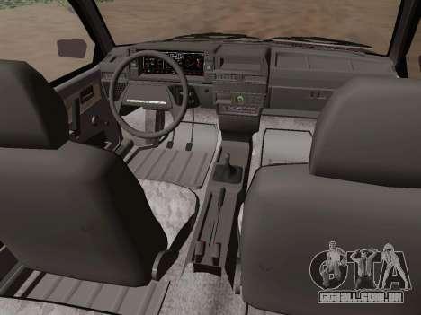 VAZ 21083 para GTA San Andreas vista interior