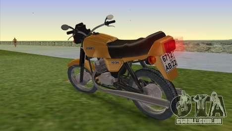 Jawa 638 para GTA Vice City deixou vista