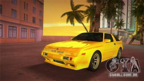 Mitsubishi Starion ESI-R 1986 para GTA Vice City vista traseira esquerda