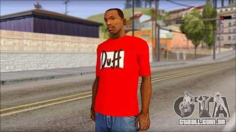 Duff T-Shirt para GTA San Andreas