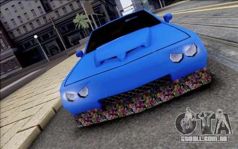 Buffalo Drift Style para GTA San Andreas esquerda vista