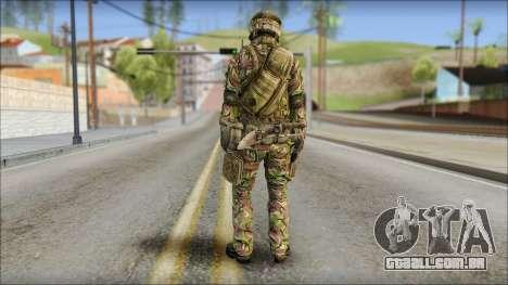 Forest SAS from Soldier Front 2 para GTA San Andreas segunda tela