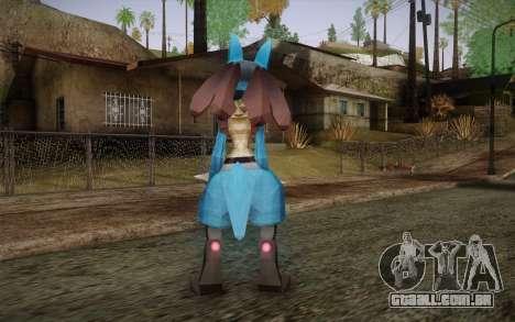 Lucario from Pokemon para GTA San Andreas segunda tela