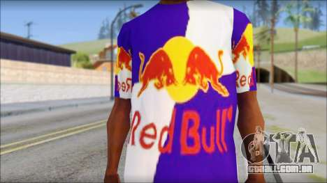 Red Bull T-Shirt para GTA San Andreas terceira tela