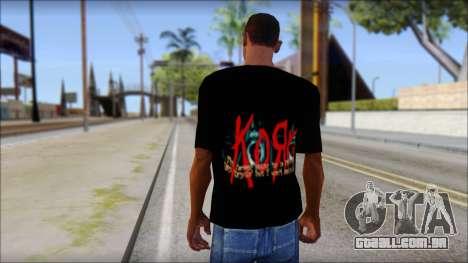 KoRn T-Shirt Mod para GTA San Andreas segunda tela