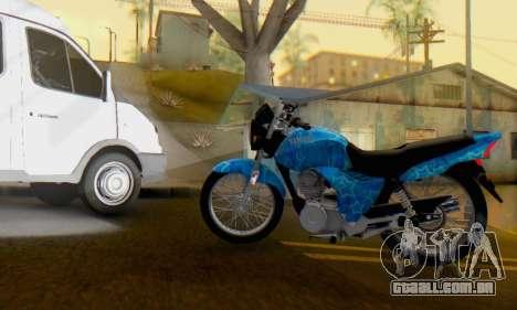 Yamaha YBR Blue Star para GTA San Andreas esquerda vista