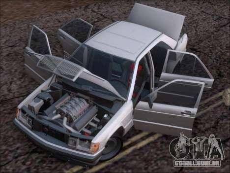 Mercedes Benz 190E Drift V8 para GTA San Andreas vista inferior