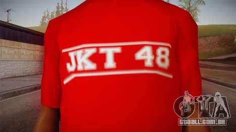JKT48 Hardcore T-Shirt para GTA San Andreas terceira tela