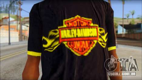 Harley Davidson T-Shirt para GTA San Andreas terceira tela