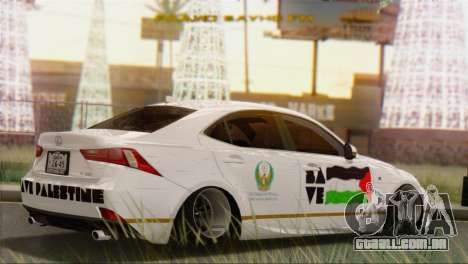 Lexus IS350 FSport 2014 Hellaflush para GTA San Andreas esquerda vista