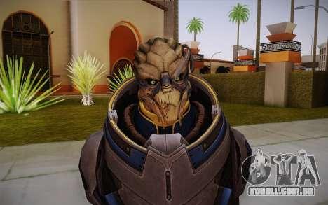 Garrus from Mass Effect 3 para GTA San Andreas terceira tela
