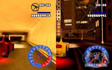 Velocímetro Conceito StyleV4x3 para GTA San Andreas terceira tela