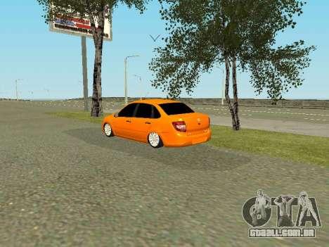 Lada Granta para GTA San Andreas esquerda vista