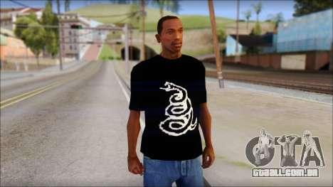 Metallica Logos T-Shirt para GTA San Andreas