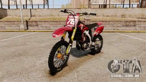 Yamaha YZF-450 v1.11 para GTA 4