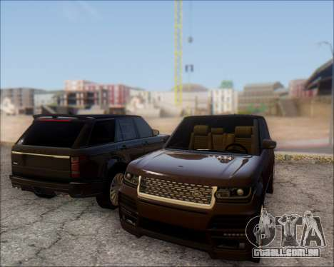 Land Rover Range Rover Startech para GTA San Andreas vista traseira