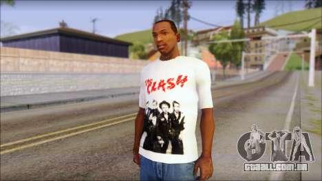 The Clash T-Shirt para GTA San Andreas
