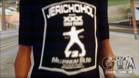 Chris Jericho Jerichohol T-Shirt para GTA San Andreas terceira tela