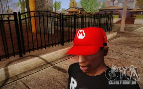 Super Mario Cap para GTA San Andreas terceira tela