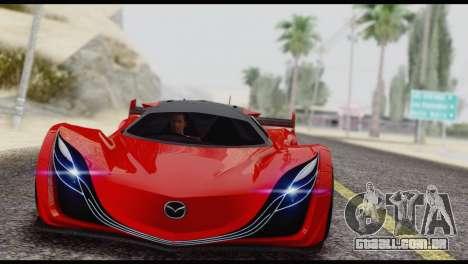 Mazda Furai 2008 para GTA San Andreas vista traseira
