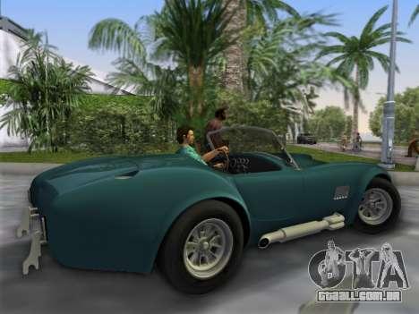 Shelby Cobra para GTA Vice City deixou vista