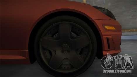 Mercedes-Benz SLK55 AMG Tuned para GTA Vice City vista traseira esquerda