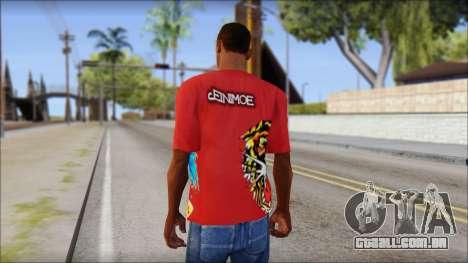 Ed Hardy Designer T-Shirt para GTA San Andreas segunda tela