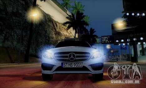 Mercedes-Benz C250 2014 V1.0 EU Plate para GTA San Andreas vista superior