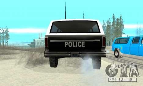 New Police Ranger para GTA San Andreas traseira esquerda vista
