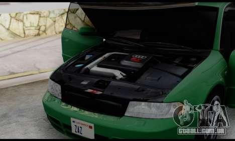 Audi S4 2000 para vista lateral GTA San Andreas